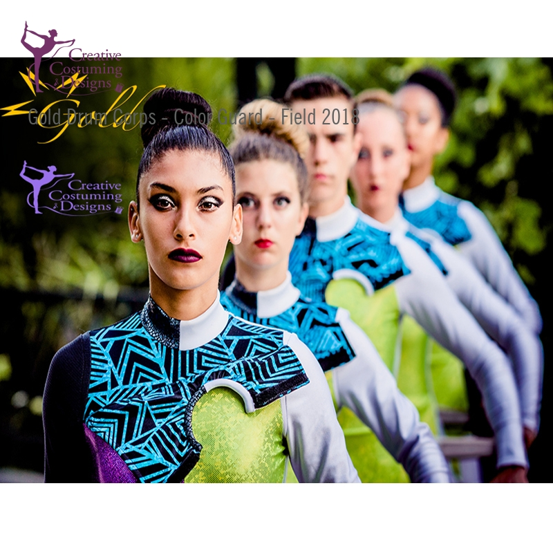 Costumes Gold Drum Corps Color Guard Field 2018 Creative Costuming Designs