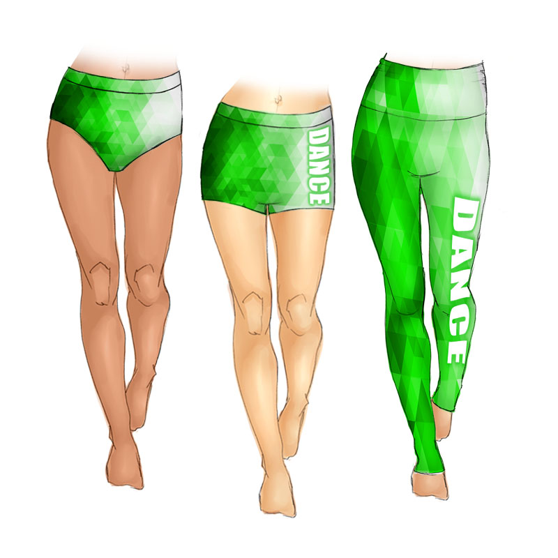Green Gradient Print
