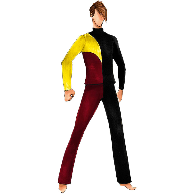 Black Yellow Red  top Only