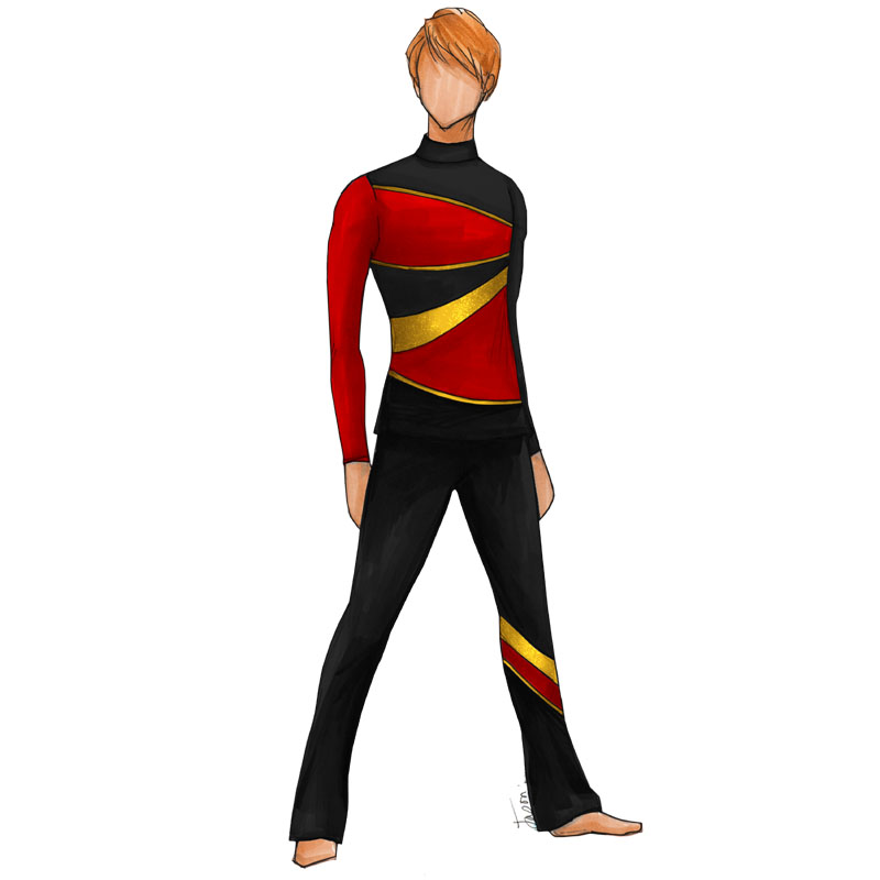 CCD-M107-B-RED/BLACK/GOLD TOP ONLY