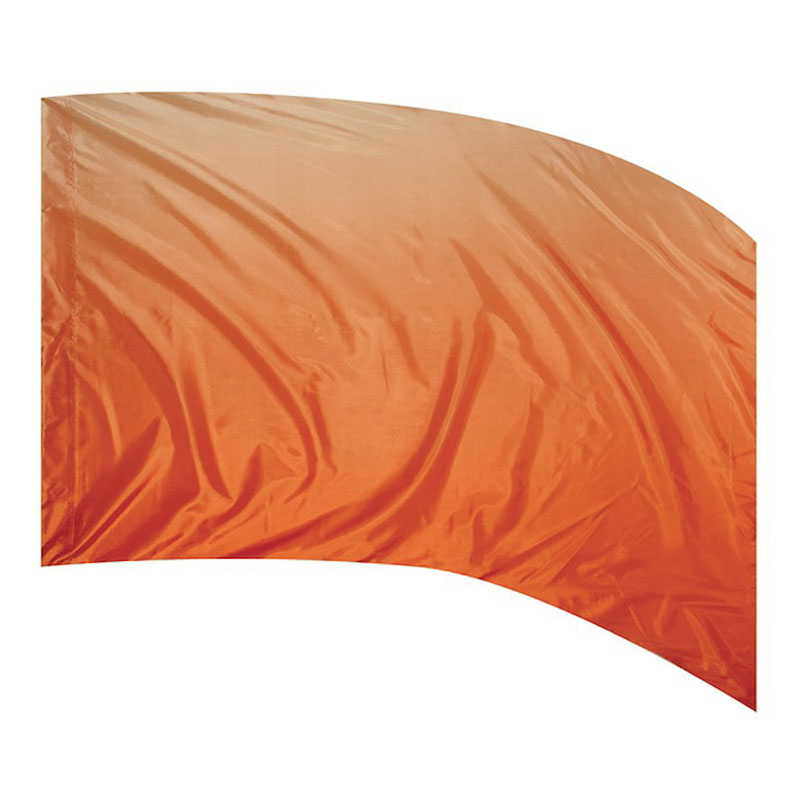 F1 OMBRE PRINT - POLY CHINA SILK ORANGE