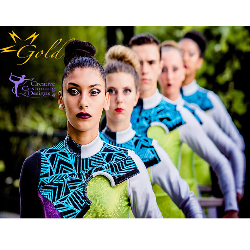 Gold Drum Corps - Color Guard - Field 2018