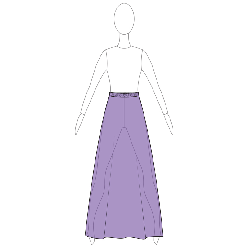 SKIRT 001-B PURPLE MESH