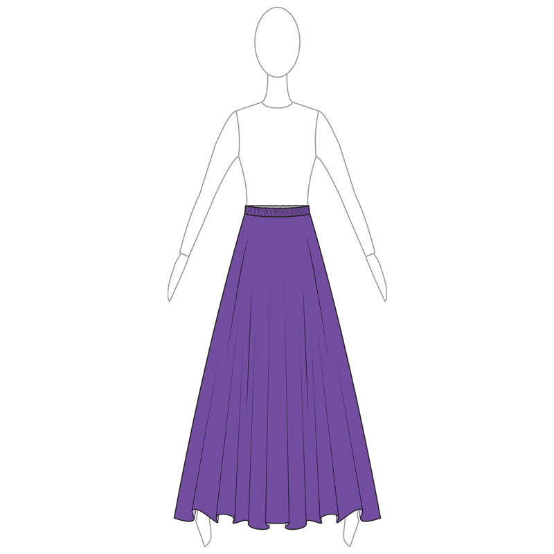 SKIRT 005-A PURPLE LYCRA