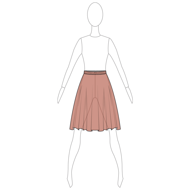 SKIRT 006-B BROWN MESH