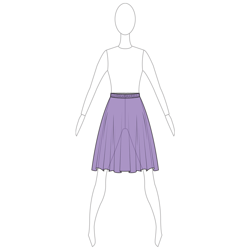 SKIRT 006-B PURPLE MESH