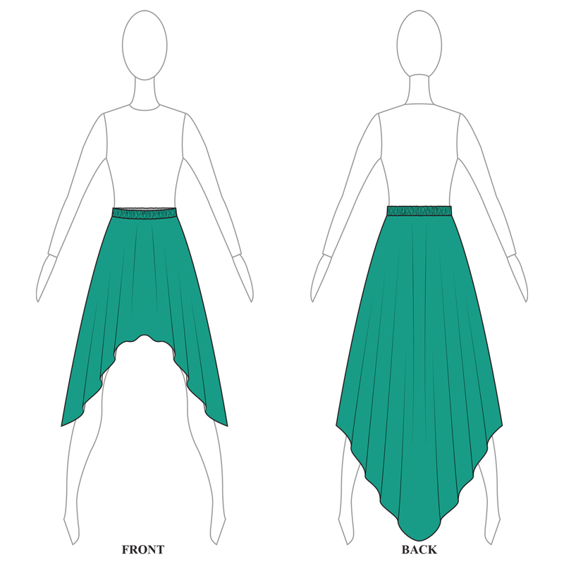 SKIRT 007-A TURQUOISE LYCRA