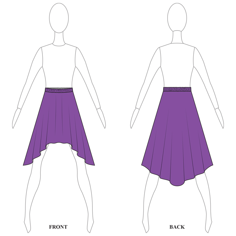 SKIRT 008-A PURPLE LYCRA