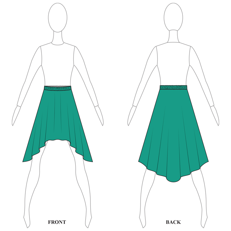 SKIRT 008-A TURQUOISE LYCRA