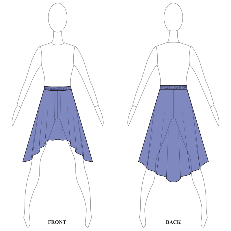 SKIRT 008-BBLUE MESH