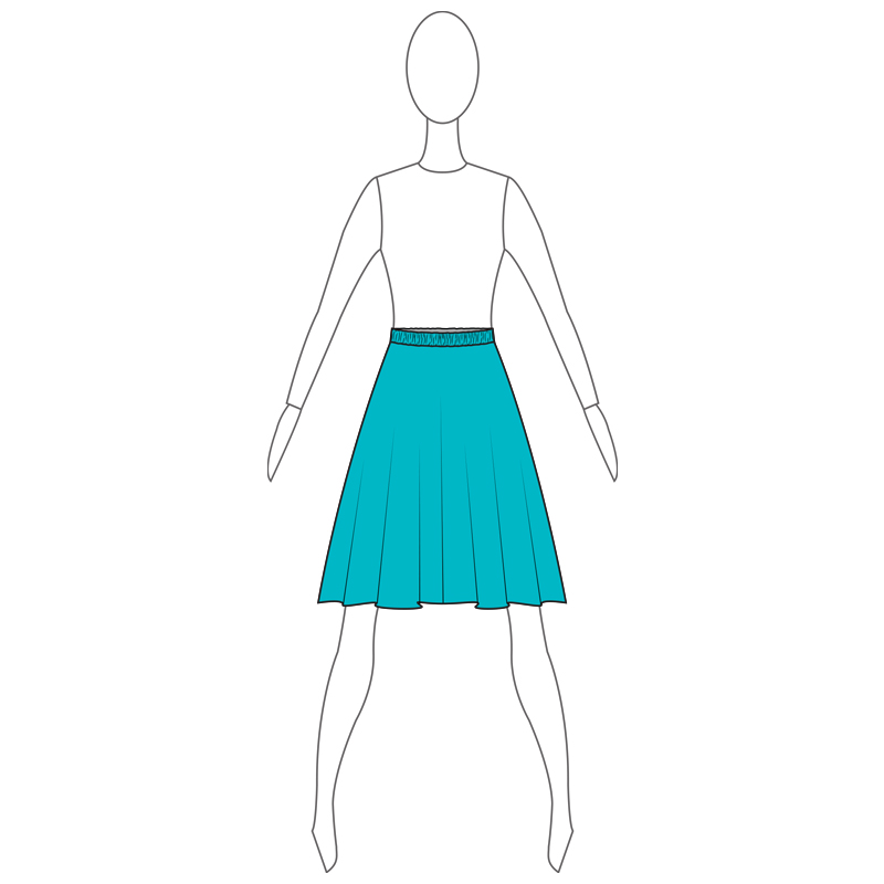 SKIRT 004-A TURQUOISE LYCRA
