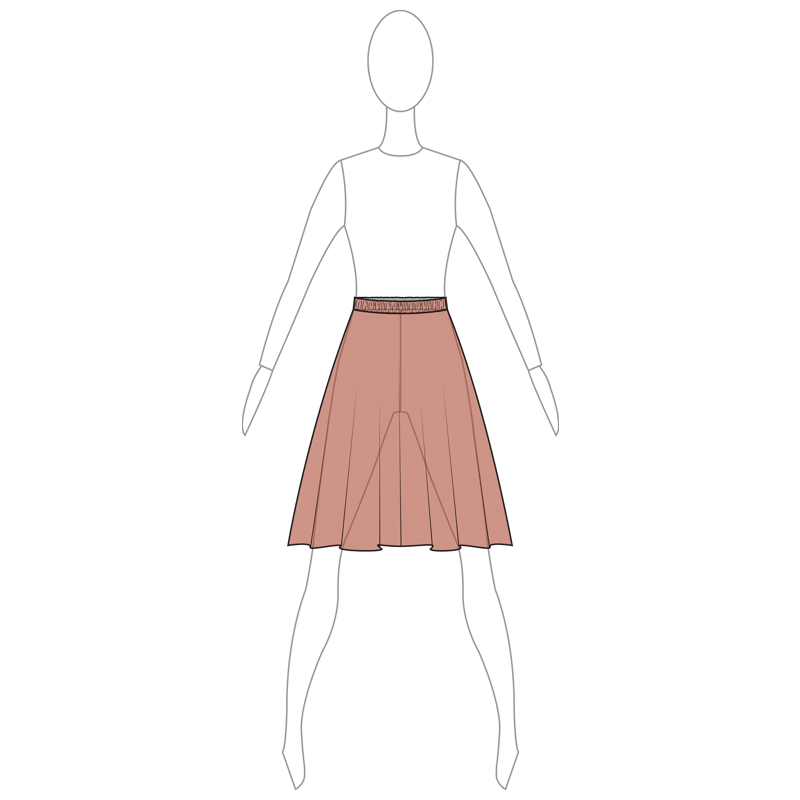 SKIRT 004-B BROWN MESH