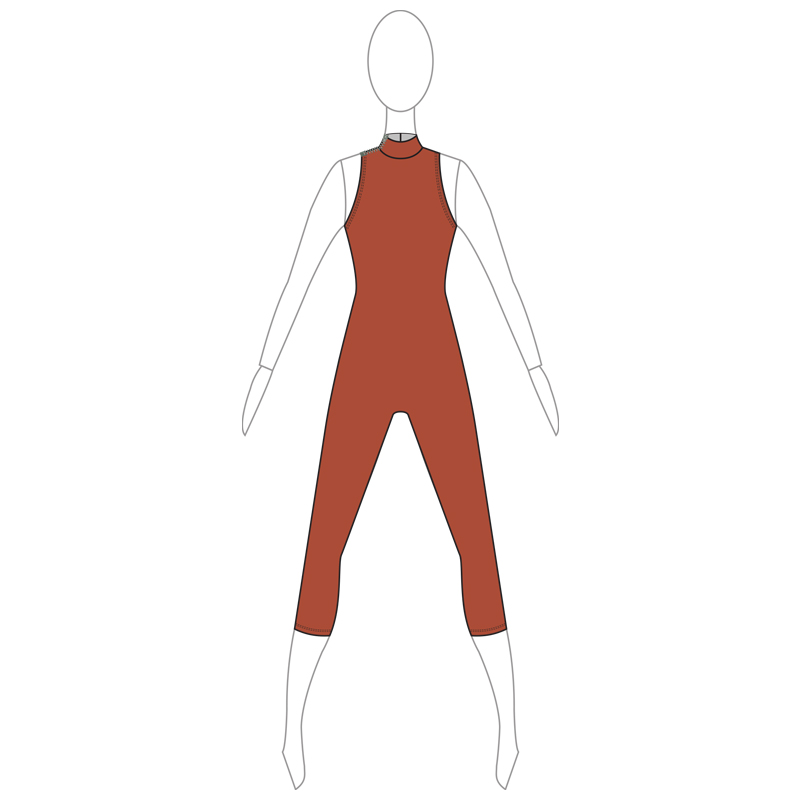 UNITARD 005-A BROWN LYCRA