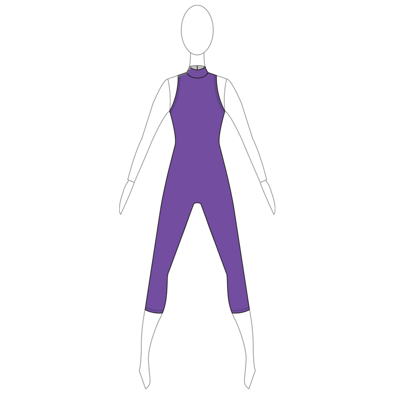 UNITARD 005-A PURPLE LYCRA