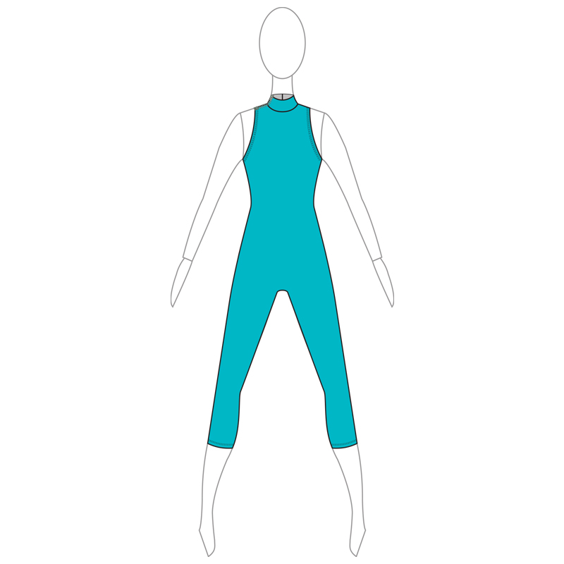 UNITARD 005-A TURQUOISE LYCRA