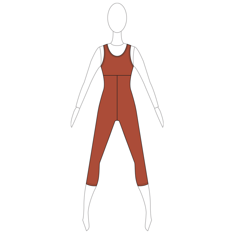 UNITARD 006-A BROWN LYCRA