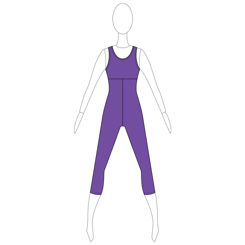 UNITARD 006-A PURPLE LYCRA