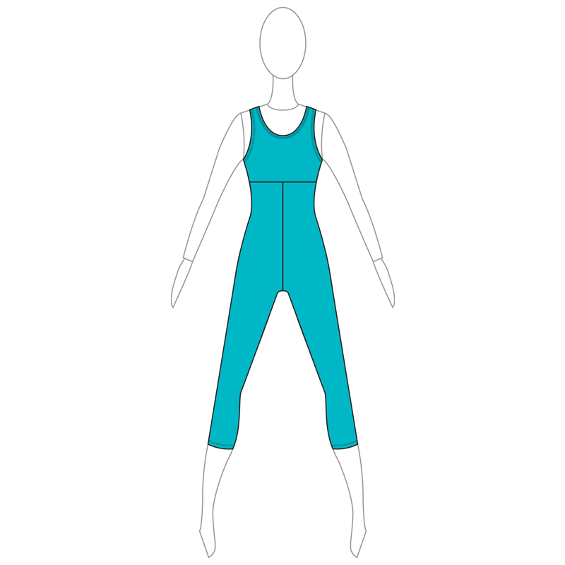UNITARD 006-A TURQUOISE LYCRA