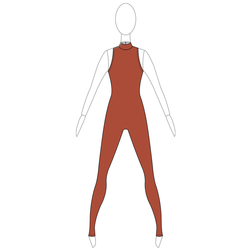 UNITARD 002-A BROWN LYCRA
