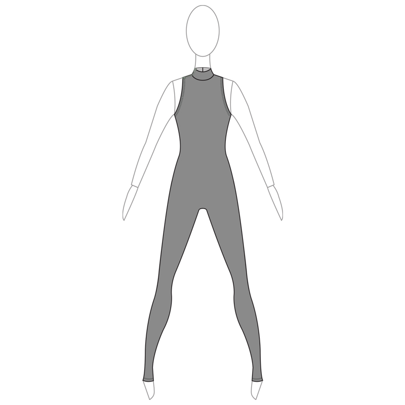 UNITARD IN 002-A GREY LYCRA