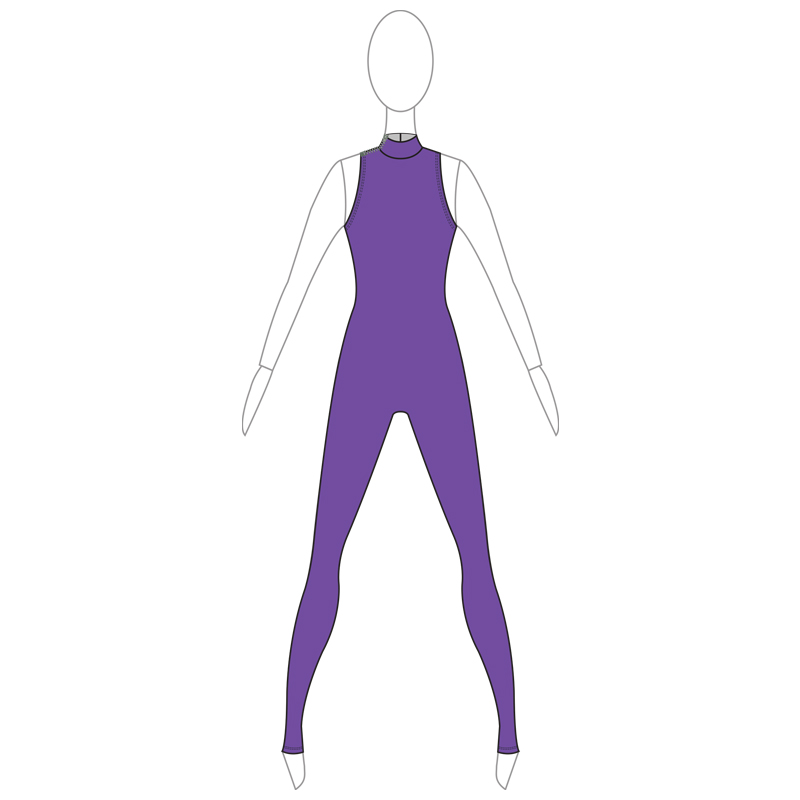 UNITARD 002-A PURPLE LYCRA